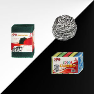 XPO DishCleaner, Soap box, Steel wool, scotch pad